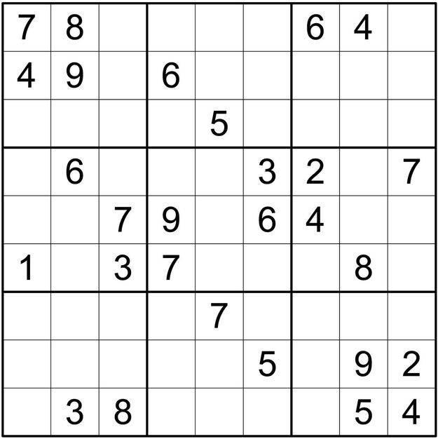 Սուդոկուների հավաքածու 2 (միջին բարդության)