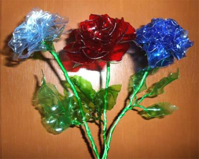 Ծաղիկներ պլաստիկ շշերից