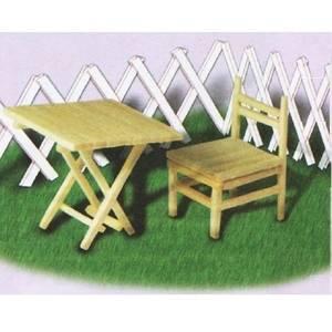 Սեղան-աթոռ լուցկու հատիկներից