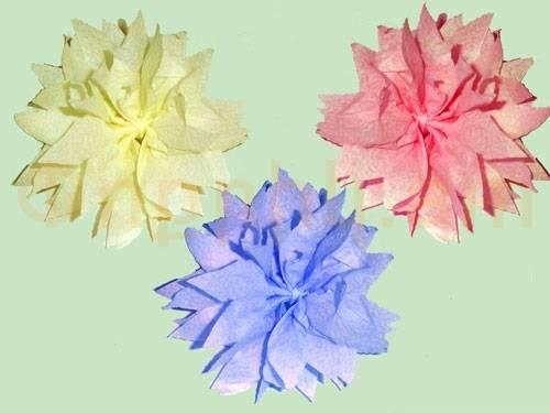 Ծաղիկներ անձեռոցիկից (տարբերակ 2)