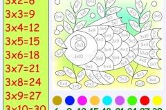 Математические-раскраски-на-таблица-умножение-на-3-1